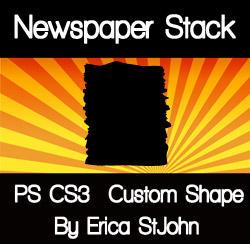 Newspaper Stack PS CS3 Shape