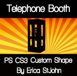 Telephone Booth PS CS3 Shape by estjohn