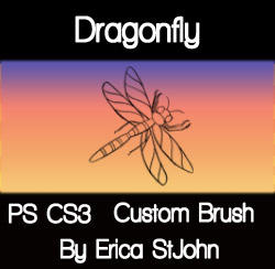 Dragonfly PS CS3 Brush by estjohn