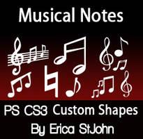 Music Symbols PSCS3 Shapes by estjohn