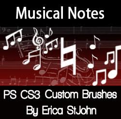 Music Symbols PSCS3 Brushes by estjohn
