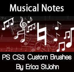 Music Symbols PSCS3 Brushes by estjohn