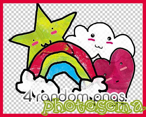 4 random PNGS by photosoma