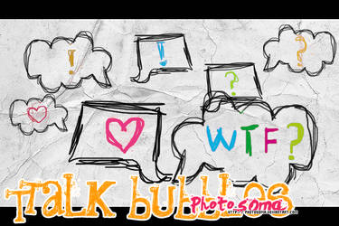 Talk bubbles brushes