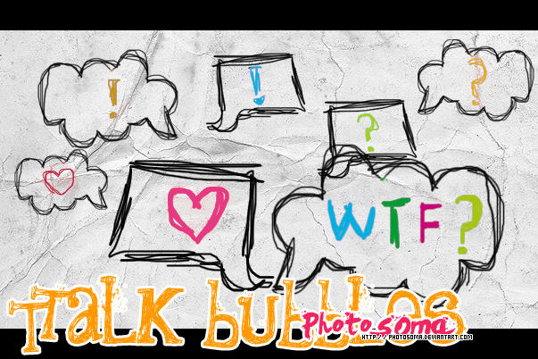 Talk bubbles brushes Talk_bubbles_brushes_by_photosoma