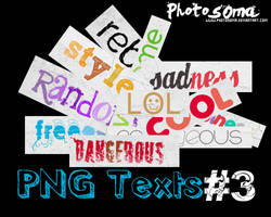 PNG texts 3 by photosoma