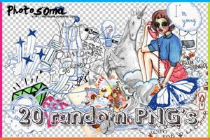 20 Random PNG's by photosoma