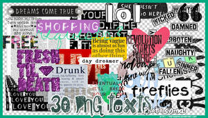 PNG texts4 by photosoma