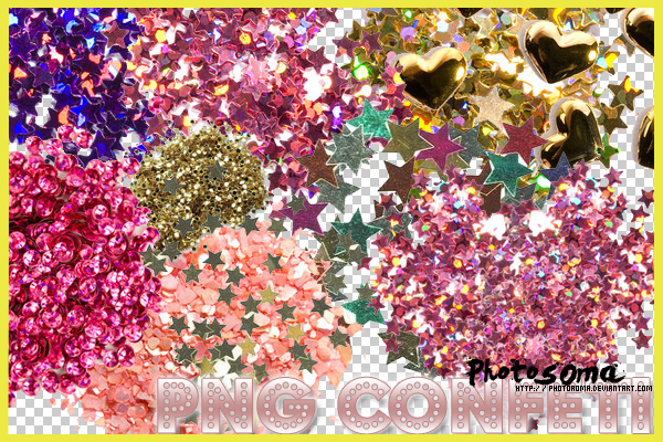 PNG Confeti by photosoma