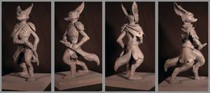 Fennec fox maquette turn around by Detkef