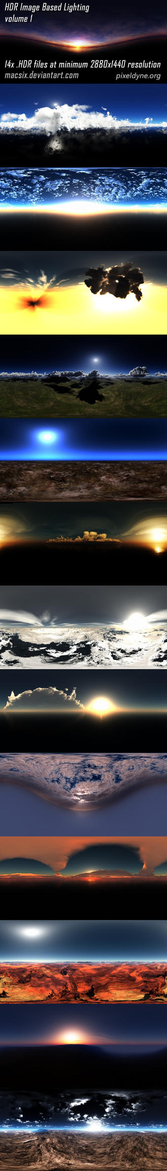 HDR IBL 360 panoramas Volume 1 by macsix