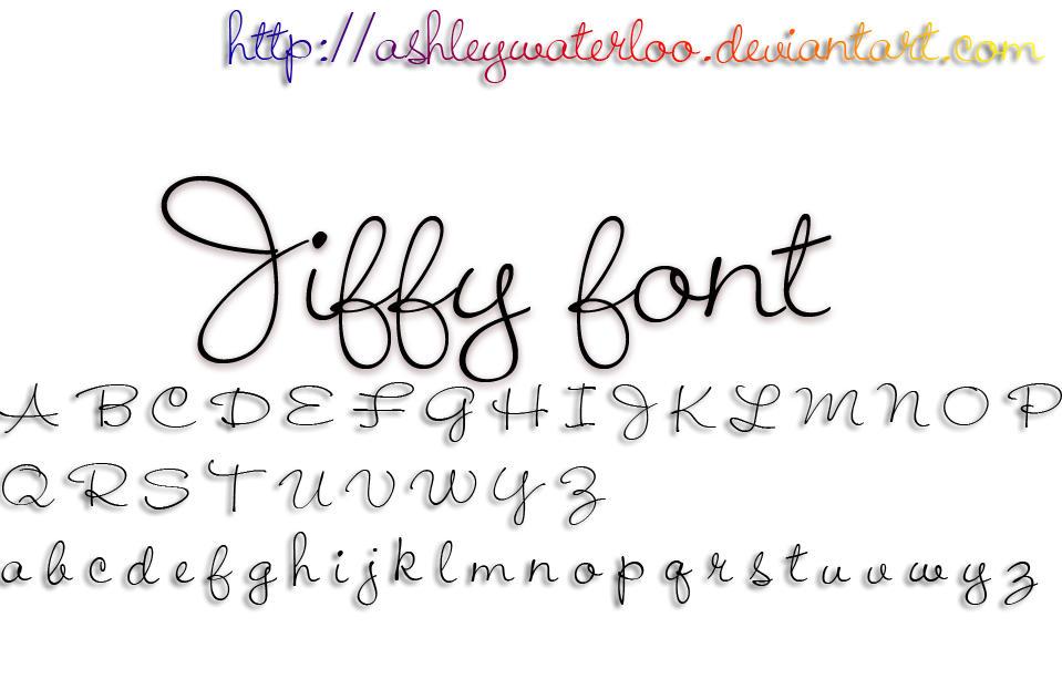 Jiffy font by Waterloo by AshleyWaterloo