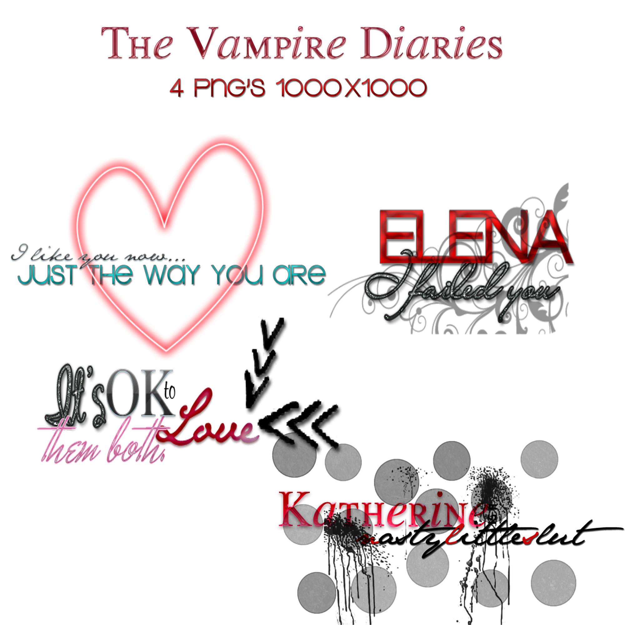 The Vampire Diaries Pack PNG'S by AshleyWaterloo