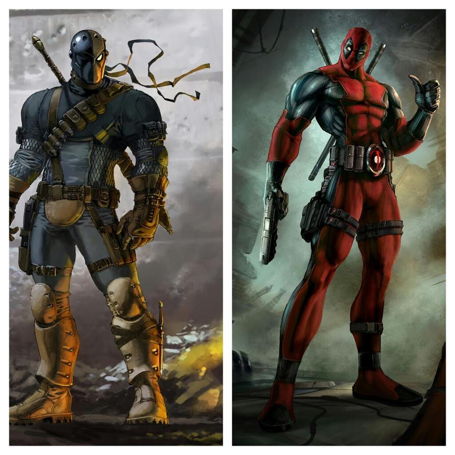 Deadpool Vs Deathstroke By ZiggytheNinja On DeviantArt