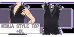[f2u +dl] Tda Ninja Style Top by edynsyx