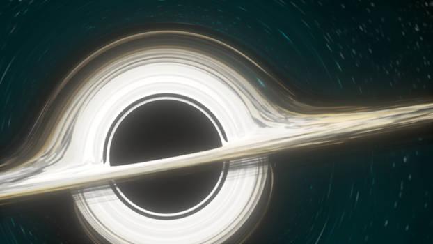 Interstellar - Gargantua disc rotation GIF