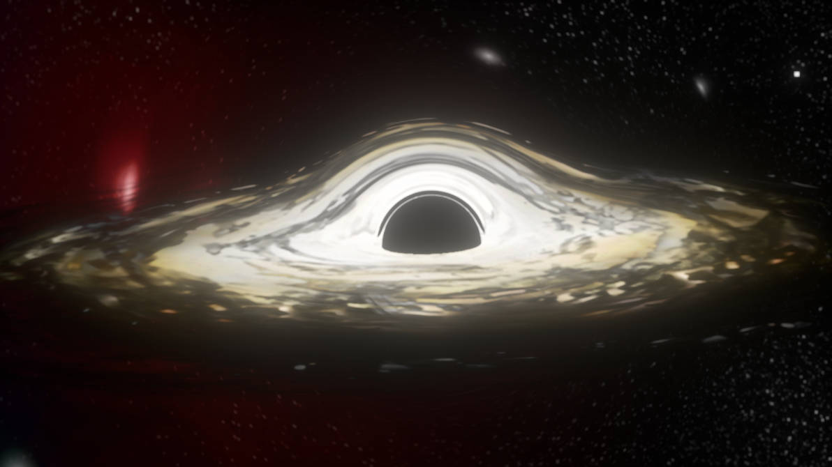 Interstellar Black Hole Rotation Gif By Spaceartguy On