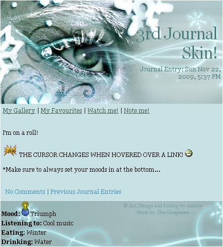 Winter Eye Journal Skin by mxlove