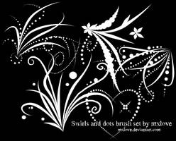 Swirls and dots brushes by mxlove