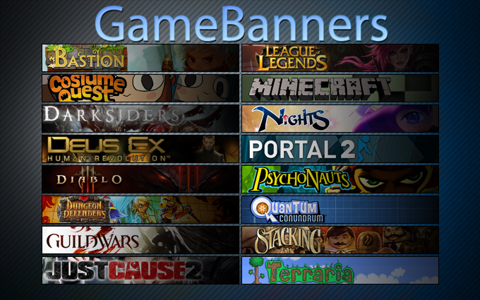 GameBanners for Rainmeter by risemix