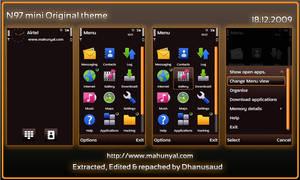 N97 Mini Original Brown theme