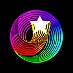 Hanna-Barbera swirling star (app icon)
