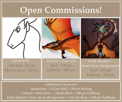 Open Commissions by KammyClues