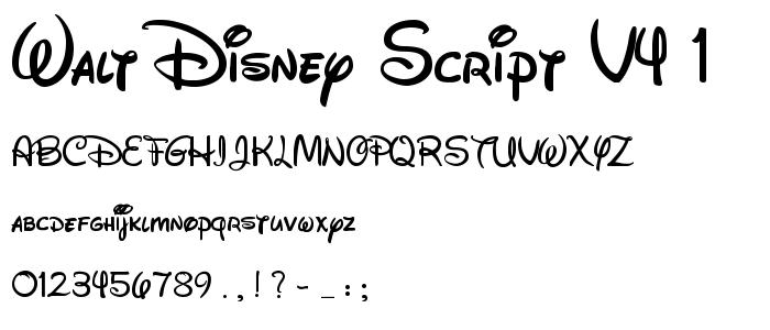 Walt Disney Font by ILovePS