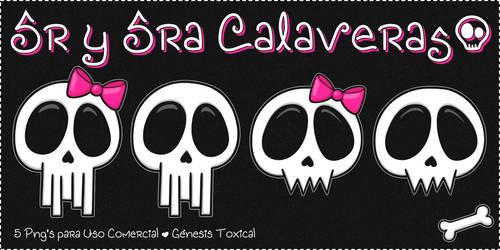 Sr y Sra Calaveras | Png's para Uso Comercial
