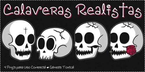 Calaveras Realistas | Png's para Uso Comercial
