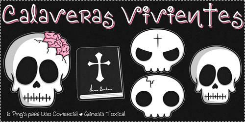Calaveras Vivientes | Png's para Uso Comercial
