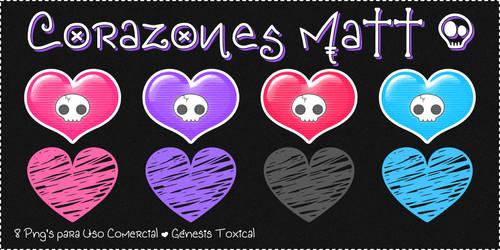 Corazones Matt | Png's para Uso Comercial