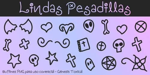 Lindas Pesadillas | Outlines PNG - Uso Comercial