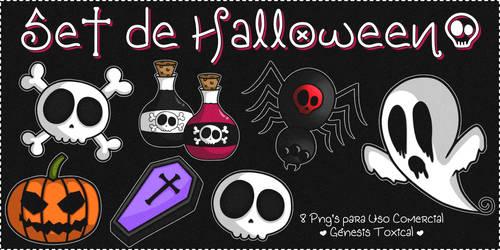 Set de Halloween | Png's para Uso Comercial