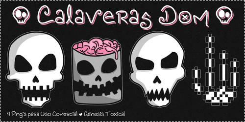 Calaveras Dom | Png's para Uso Comercial