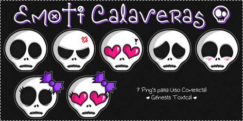 Emoti Calaveras | Png's para Uso Comercial