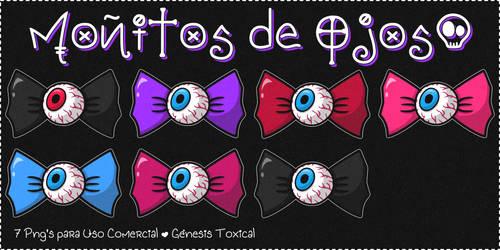 Bows de Ojos | Png's para Uso Comercial