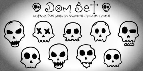Dom Set | Outlines PNG - Uso Comercial