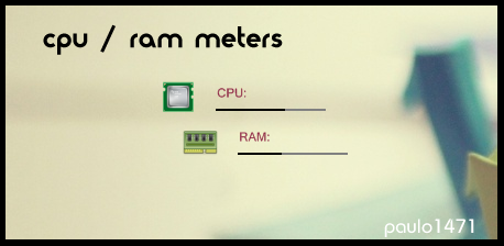 CPU/RAM Meters by Paulo1471