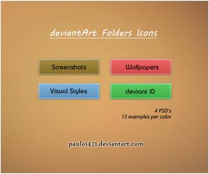 deviantArt Folder Icons by Paulo1471