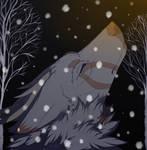 snowing by muryoko