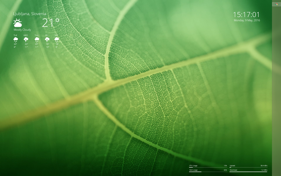 Green Rainmeter by krizajb