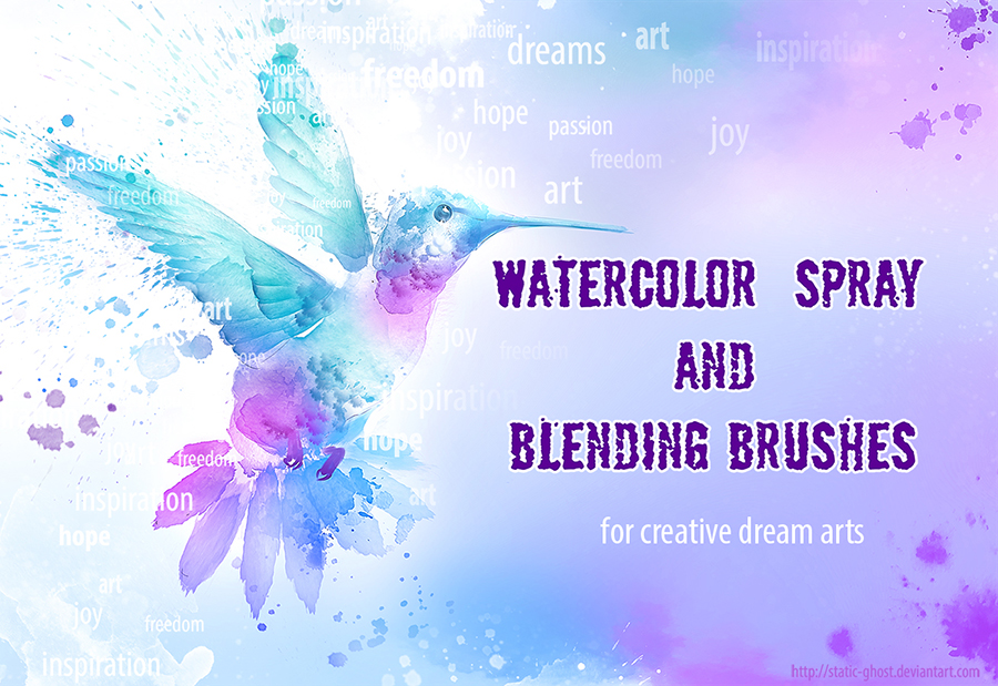 Watercolor brushes for creative arts by Static-ghost
