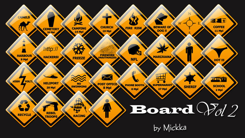 Board Icon Vol 2 by Mickka