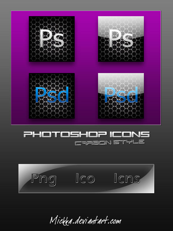 Photoshop Icons - Carbon Style by Mickka