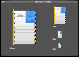 Notes icons by Mickka