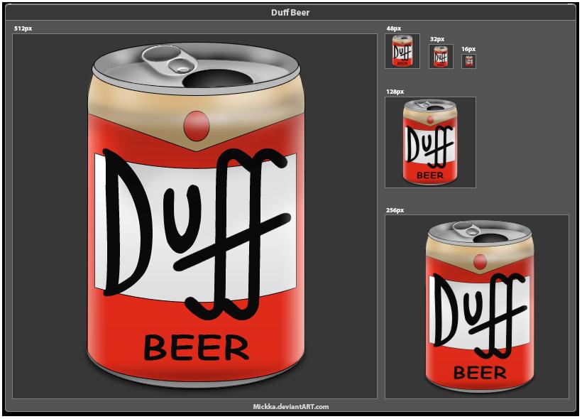 Duff Beer by Mickka