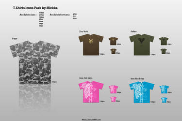T-Shirts Icons Pack