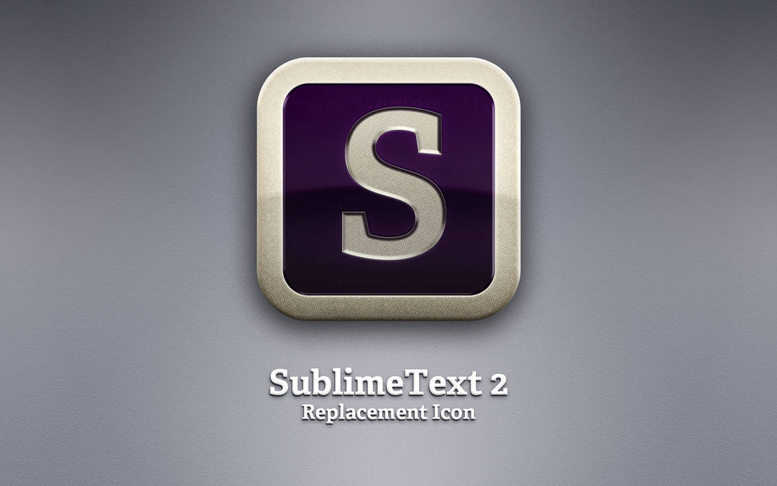 SublimeText 2 Replacement Icon