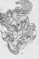 spidey v/s venom by charlessimpson
